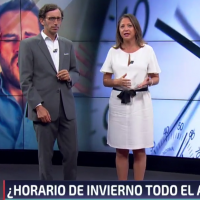 Noticiario 24 horas de TVN: Opiniones sobre propuesta de cambio de horario en Chile